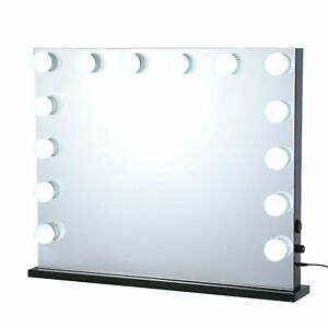 """32""""L Hollywood Makeup Mirror Lighted Vanity Mirror w/ Bulb Tabletop or Wallmount"""