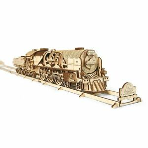 UGEARS-Modellbausatz-V-Express-Lokomotive
