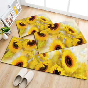 Details About Sunflower Nature Home Area Rugs Kitchen Mat Bedroom Living Room Floor Carpet