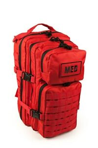 Elite First Aid Tactical Trauma Kit #3 STOCKED Tactical Medic Bag Red