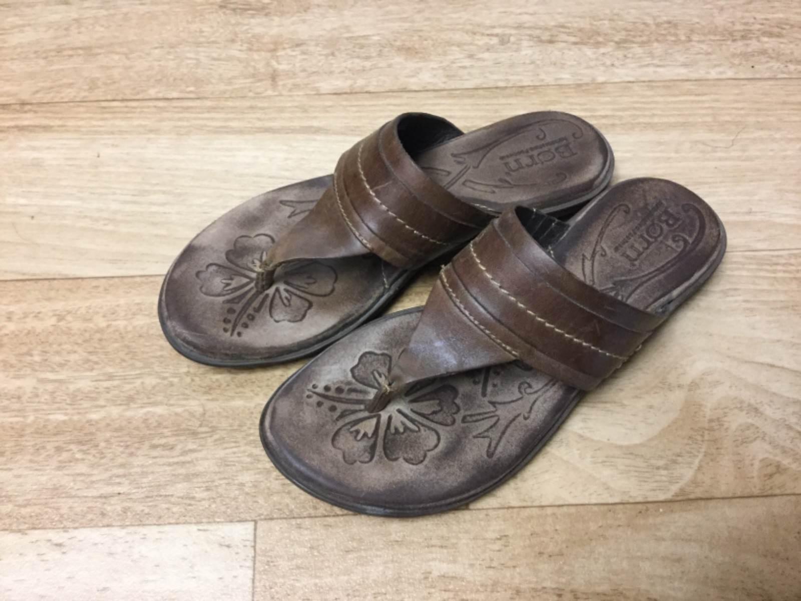 Born handcrafted footwear flop brown women's sandal flip flop footwear size 6 / 36.5 7798bd