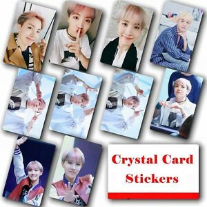 10pcs-set-Kpop-Bangtan-Boys-J-HOPE-HD-Lustre-Photo-Card-Crystal-Card-Sticker