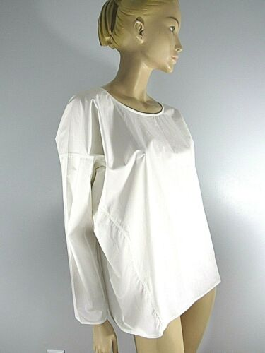 SOFIE D'HOORE ART TO WEAR ! WHITE COTTON  BOXY BLO