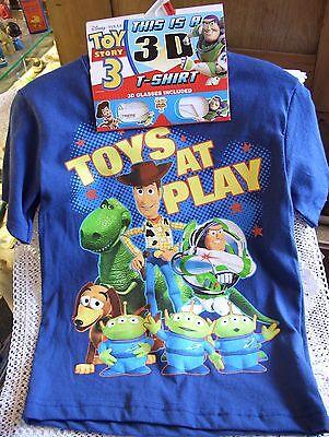 Disney Pixar 3-D Toy Story 3 T-Shirt, 3-D Glasses! Toys At Play, Various Sizes