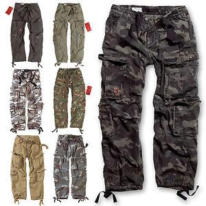 Image is loading SURPLUS-CARGO-Trousers-AIRBORNE-VINTAGE-Trousers -Streetwear-Pants-