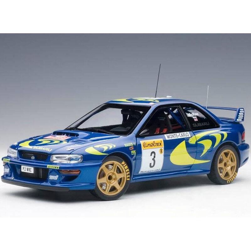 directo de fábrica Autoart SUBARU SUBARU SUBARU IMPREZA WRC 1997  3 Rally de Monte Cochelo 1 18 89790 Azul  hasta un 70% de descuento