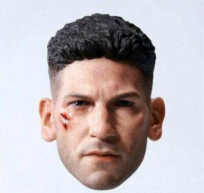 """1//6 Punisher Joe Bonnsee Head Sculpture Model Fit 12/"""" Male Figure Body Model Toy"""