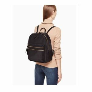 d11195af9 NWT Kate Spade Bradley Wilson Road Black LAPTOP Backpack Travel Book ...