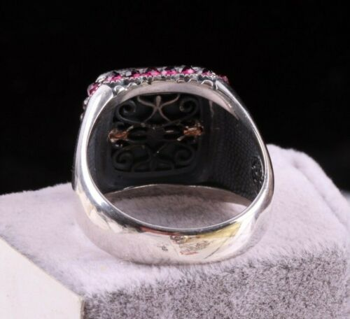 Compass Agate Aqeeq Lux Turkish Handmade 925 Sterling Silver Mens Ring ALL SİZE