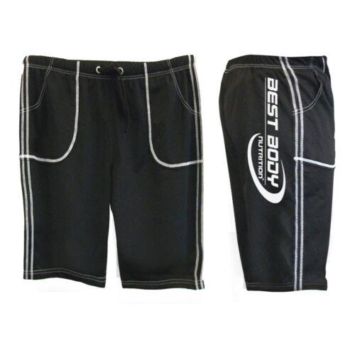Best Body Nutrition Gym Pant Men Short schwarz für Workout und Freizeit