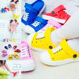 Girls-Kids-Boys-Toddler-Croc-Style-Sandals-Slippers-Beach-Caterpillar-Shoes-US