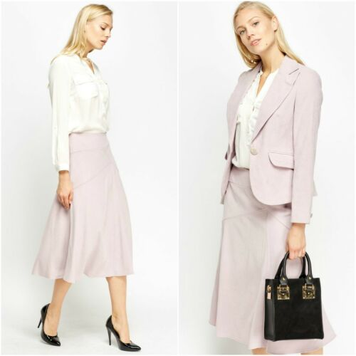 Tailored Pocket Giacca Flap Button Gonna Lilly One Womens Midi svasata bavero Suit 5wqUXax7R
