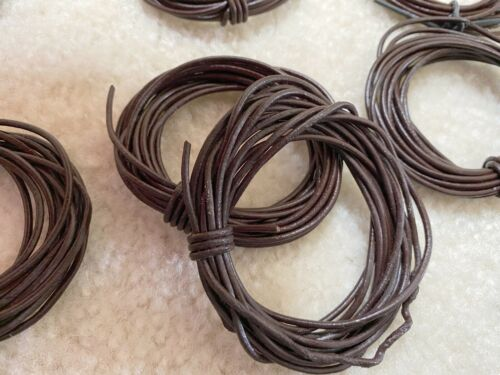 Imitation Leather Cord 3 yard Brown 2 mm 24 pcs DIY Jewelry Making 72 yards
