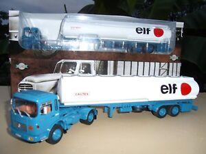 N° 37 Saviem Sm 280 Tu Camion Semi Remorque Citerne Elf Caltex 1/43 Neuf Boite