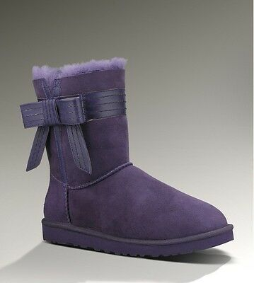 Josette Leather Bowband Boot Purple