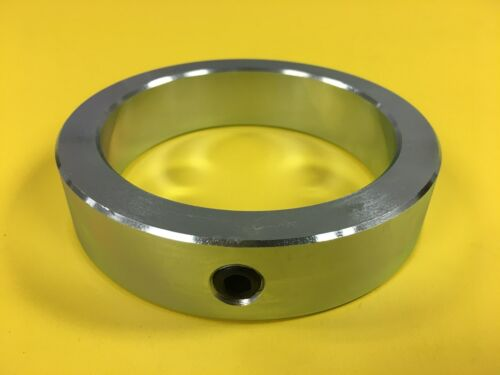 "3-7//16/"" Inch Solid Shaft Collar SC-343 Zinc Plated 1pc Set Screw"