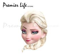 Disney Frozen Elsa Face Party Mask Card A4 Fancy Dress Film Ladies Kids Ice