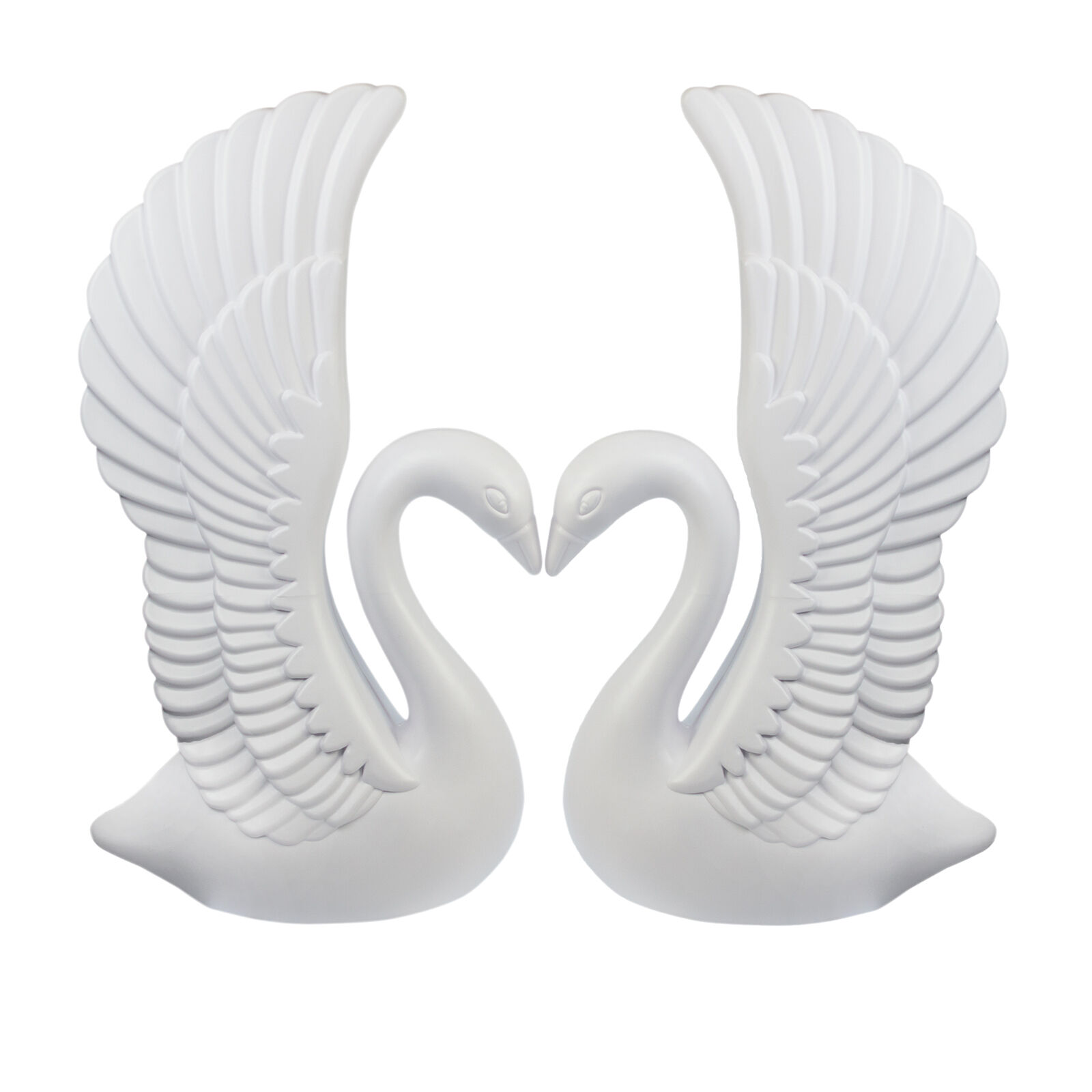 NEW Weiß Elegant Plastic Garden Swans AND Roman Wedding Columns Prop Set