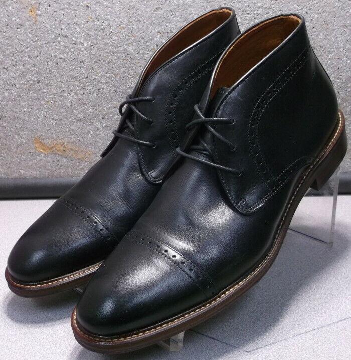 203875 ESBT50 Men's shoes Size 11 M Black Leather Boots Johnston & Murphy