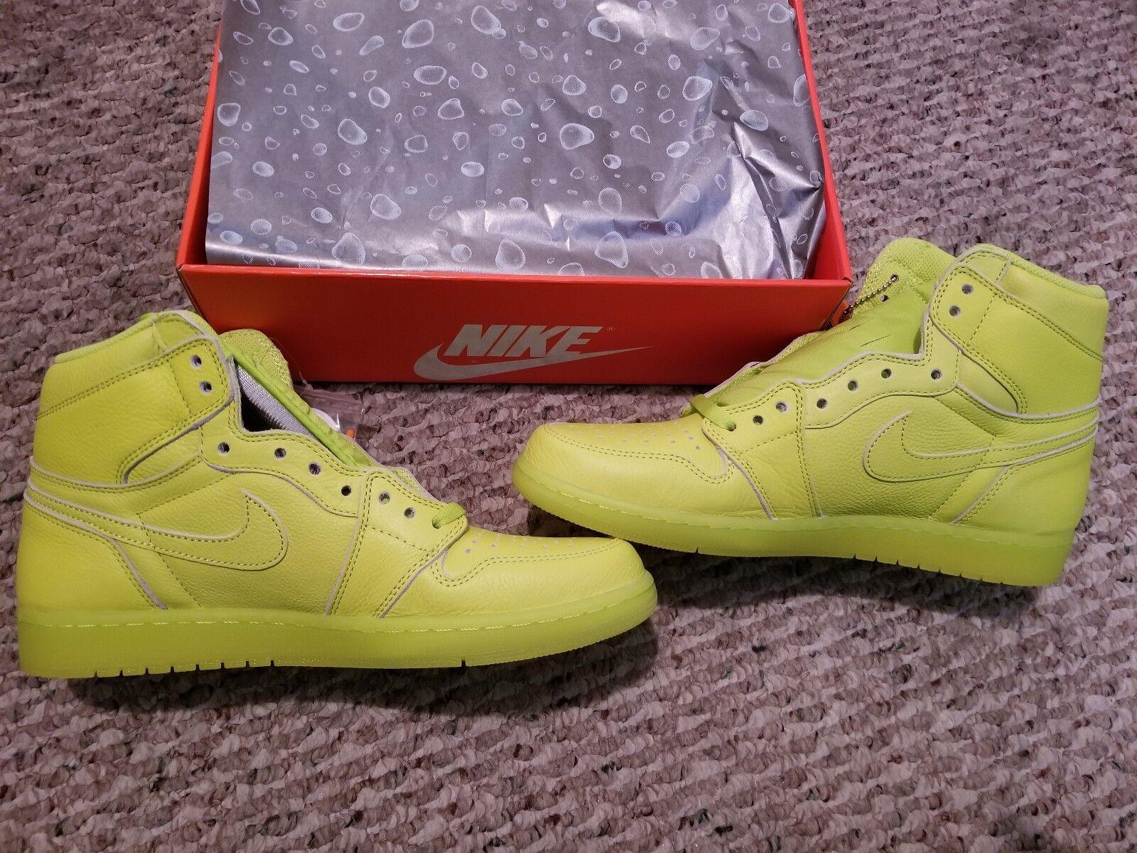 Nike Lemon Air Jordan 1 Retro High Gatorade Cyber Yellow Lemon Nike Lime AJ5997-345 sz 11 f78dfa