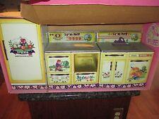 Vintage Little Bo Peep Tin 3  Piece Wolverine Toy  Kitchen Set #562 Orig Box