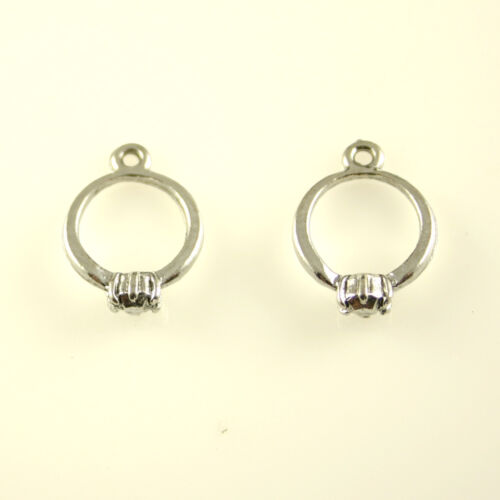 Engagement Ring 5 Silver Tone Lead-Free Pewter Charms
