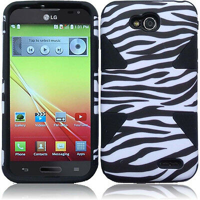 For T-Mobile LG Optimus L90 IMPACT TUFF HYBRID Protector Case Skin Phone Cover