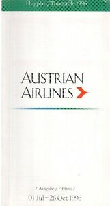 AUSTRIAN-AIRLINES-TIMETABLE-SUMMER-1996-SEAT-MAPS-FLUGPLAN