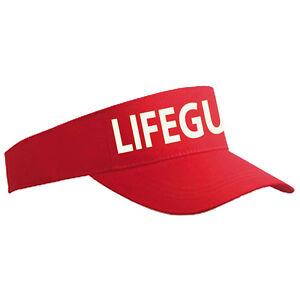 Lifeguard Red   White Sun Visor - Beach Party Fancy Dress Sunvisor ... d83aad0e19a