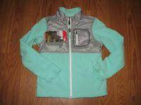 Girl's The North Face Green Grey Fleece Glacier Jacket Sz 7/8