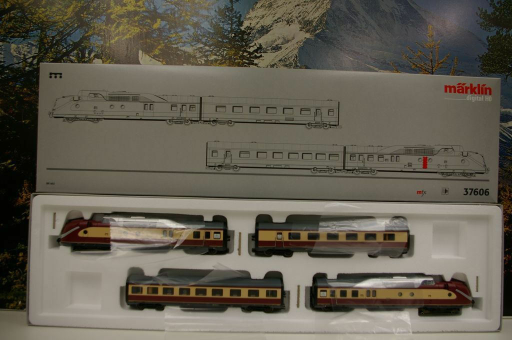 h0 37606 triebwagenzug BR 602 turbina a gas con Sound MFX Nuovo/Scatola Originale a35