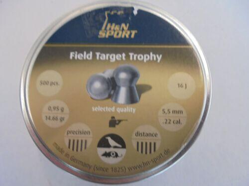 H andN Field Target Trophy .22 airifle PELLET X 500.