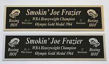 Joe Frazier nameplate for signed boxing gloves trunks photo