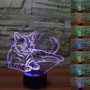 Ilusion-3D-Cat-Lindo-luz-de-noche-7-Color-Cambio-LED-Lampara-de-Escritorio-Decoracion-Habitacion