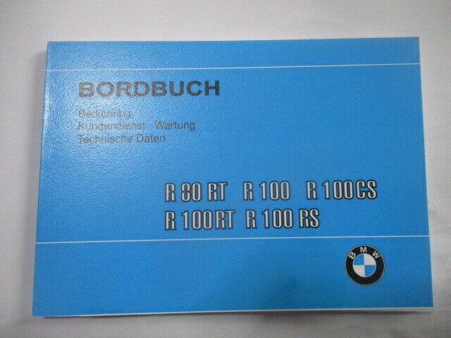 Bordbuch Manual Book Manual Motorcycle Bmw R 80 100 Cs Rt