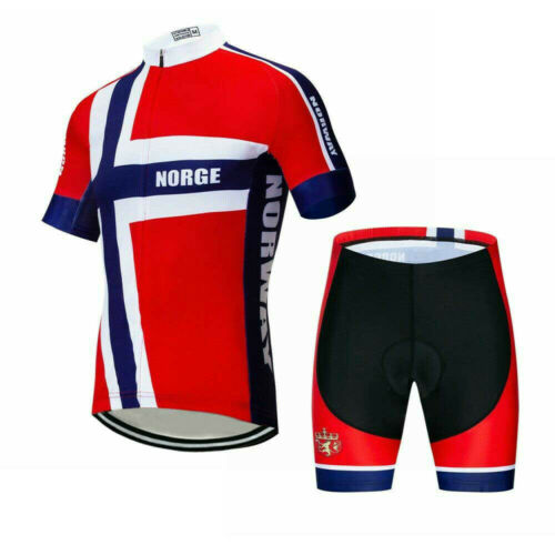Men/'s Team Cycling Clothing Set Short Sleeve Cycle Jersey and Shorts Set S-5XL