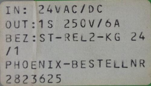 Phoenix ST-REL2-KG24//1 Relaisstecker Relais 2823625 24VAC//DC Out 1S 250V 6A