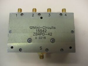 Mini-Circuits ZB4PD-42 4-Way Power Splitter | eBay