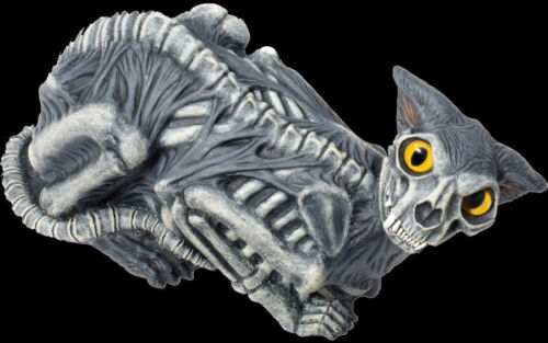 Zombie Cat Halloween Decoration Prop Gory Blood Skeleton Full Size Latex Rubber