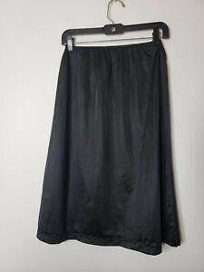 Heavenly Secrets Women's Half Slip Black Size Medium 34 Unmentionables