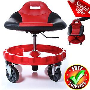 Adjule Mechanic Rolling Seat Stool Garage Round 210217 Loading Zoom