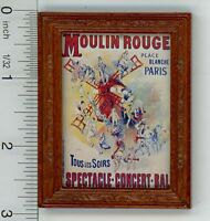 Dollhouse Miniature 1:12 Famous Moulin Rouge Poster Print