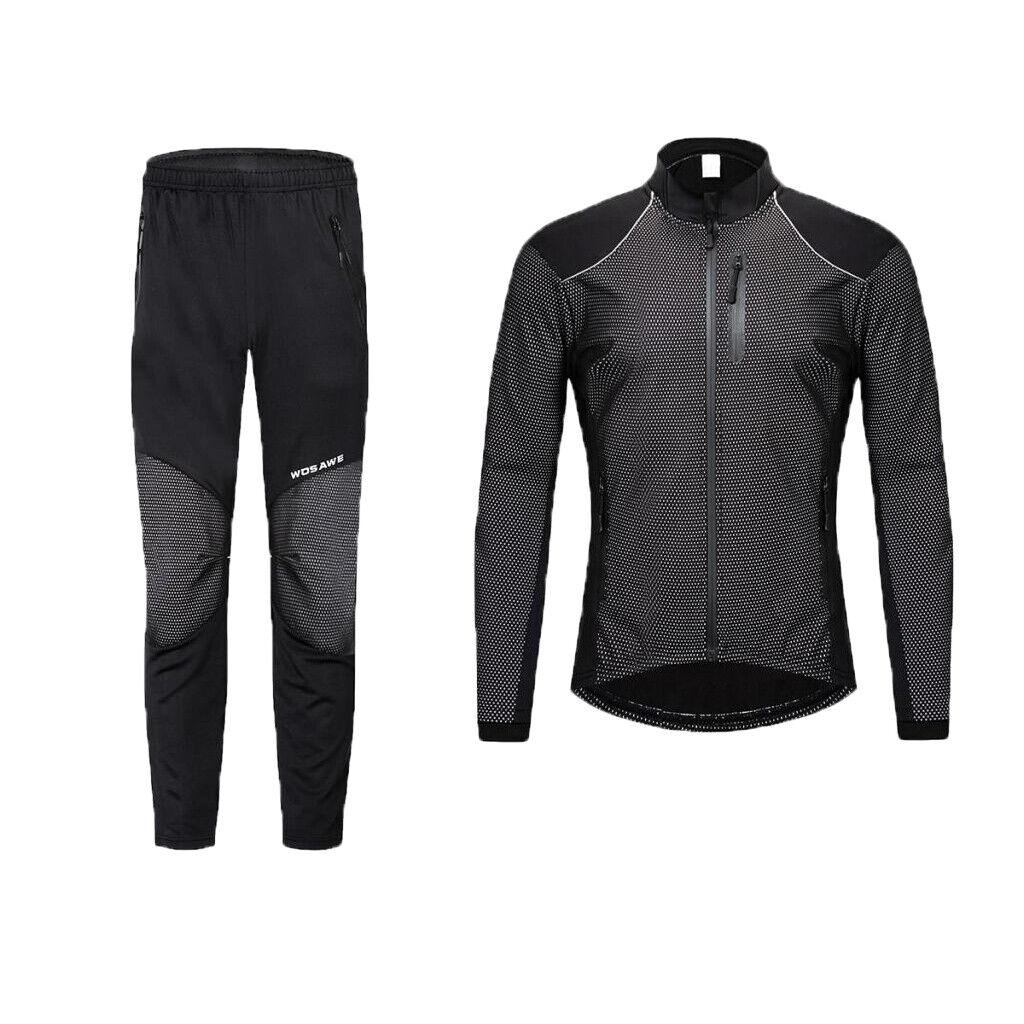 Uomini Ciclismo Jersey Vestito Inverno Thermal Pile Manica Lunga Camicia bicicletta