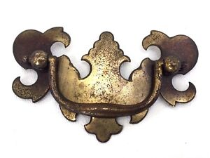 chippendale brass vintage antique hardware batwing drawer pulls 2 1