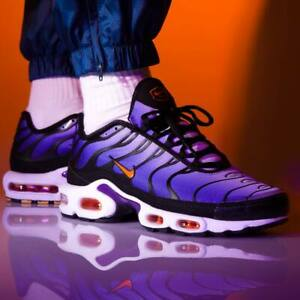 Nike Air Max Plus OG Tn Voltage Purple Total Orange Black UK 7-11 ...