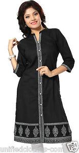 UK-STOCK-Plus-Size-Women-Cotton-Printed-Indian-Kurti-Kurta-Shirt-Dress-MM72