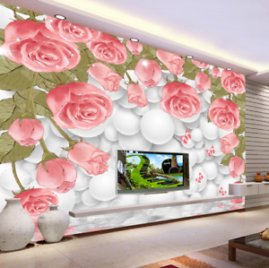 3D Blossom Pink 680 Wallpaper Murals Wall Print Wallpaper Mural AJ WALL UK Kyra