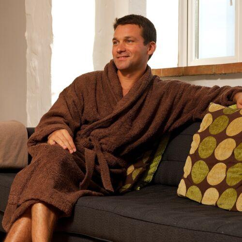 Plush Warm Luxury Soft Coral Dressing Plain Fleece Bathrobe Gown Comfy One Size