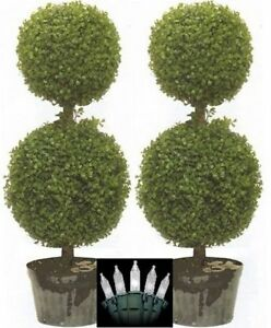 2 artificial 34 topiary tree uv boxwood ball outdoor 3 4 bush image is loading 2 artificial 34 034 topiary tree uv boxwood mozeypictures Choice Image