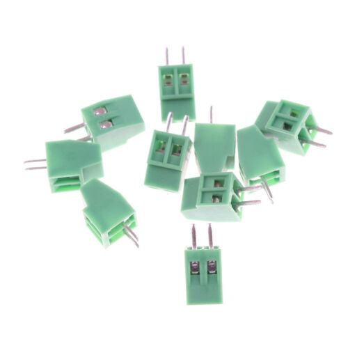 10pcs 2 Poles KF128 2.54mm PCB Universal Screw Terminal BlockWRDE